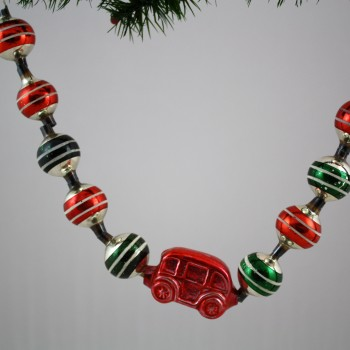 Striped Balls with Minibus Bead Garland