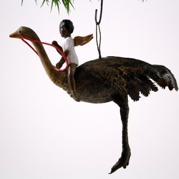 Native Angel on Ostrich