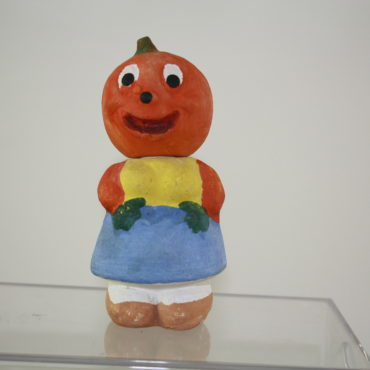 Pumpkin-Head Girl Candy Container