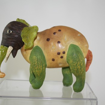 Early Vegetable Elephant Candy Container