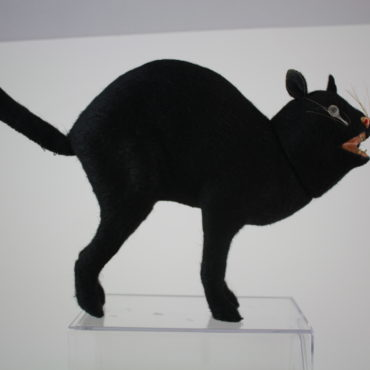 Huge Hissing Mohair Cat Candy Container