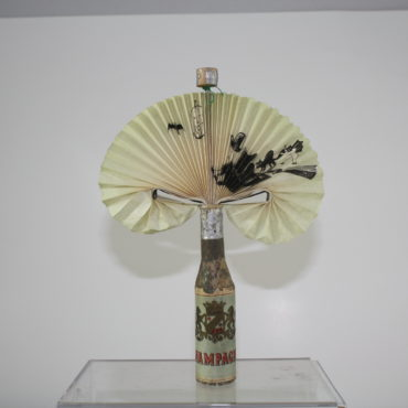 Witch on Broom Champagne Bottle Fan
