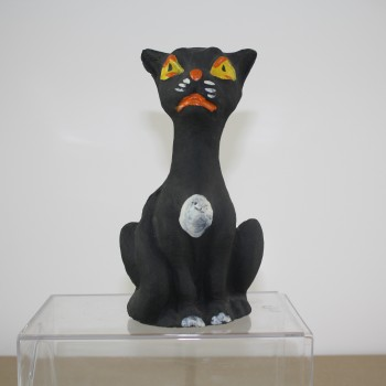 Sitting Black Cat Candy Container
