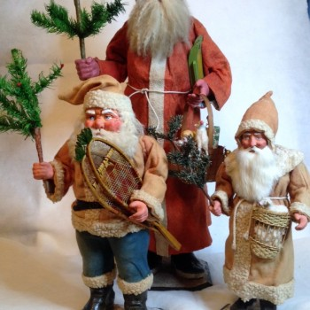 Group of Three Santas